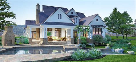 crystal falls modern farmhouse floor plan david  wiggins architect pllc