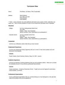 basic curriculum vitae layouts curriculum vitae template free english cv