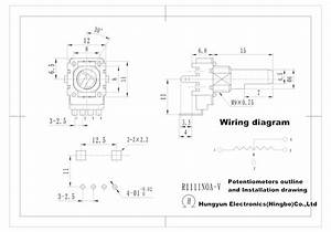 Vertical Adjustable Potentiometer Wiring  Variable Resistor