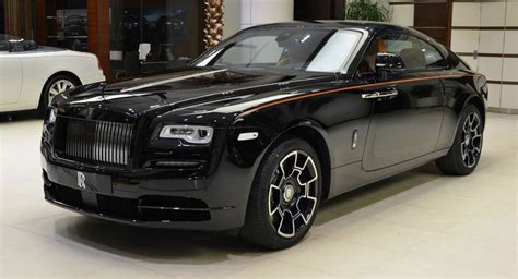 rolls royce wraith black badge rolls royce wraith black badge has a orangy interior