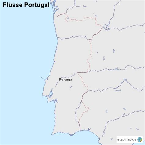 Fluss In Portugal by Fl 252 Sse Portugal L 228 Nderkarte Landkarte F 252 R Portugal