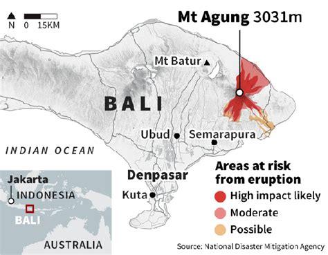 bali volcano update  mount agung eruption latest