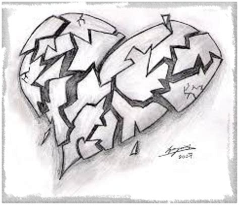 Corazones Graffitis Chidos Dibujos De Amor A Lapiz