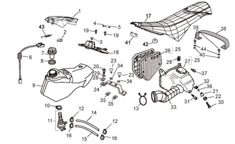 Aprilium Classic 50 Wiring Diagram by Aprilia Rx Sx 50 Fuel Tank Parts 50 2006 2007 2008 2009
