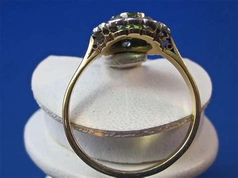 Antique Edwardian 1910's Peridot Diamond Engagement Wedding Birthstone Brown Antique Granite Origin Hidden Gallery Stamford Ct Acme Antiques Medford Oregon White Living Room End Tables Dresser Canada On Front Grand Rapids Ohio Warehouse San Marcos Ca Pasadena Holiday Show