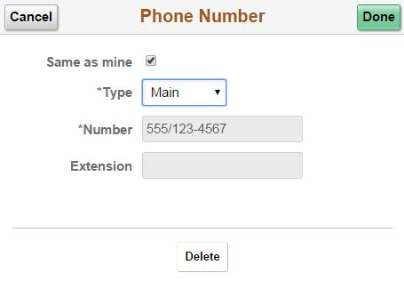 92 5 phone number using the peoplesoft fluid user interface to review and
