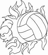Volleyball Coloring Printable sketch template