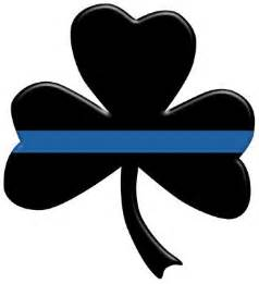 Thin Blue Line Shamrock Decal