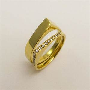 modern engagement wedding rings set 14 karat gold and With modern wedding rings for women