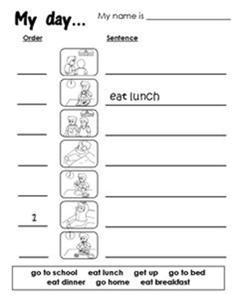 daily routine worksheet images english