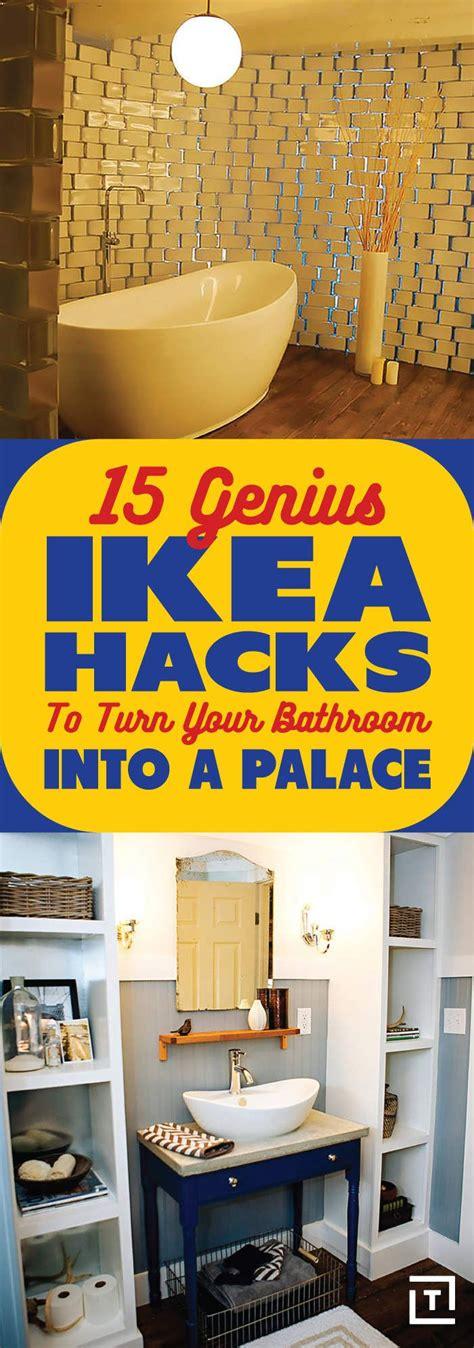 genius ikea hacks  turn  bathroom   palace