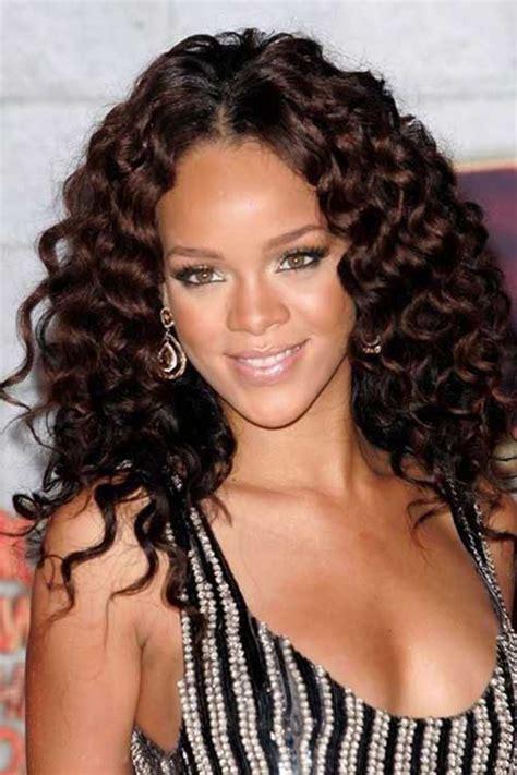 15 rihanna long curly hair hairstyles haircuts 2016