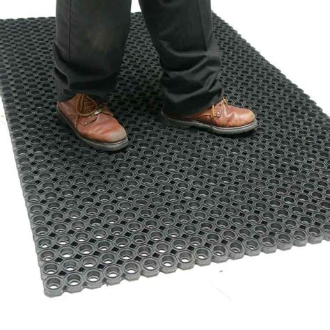 """Dura Chef Octagon"" Rubber Kitchen Mats"