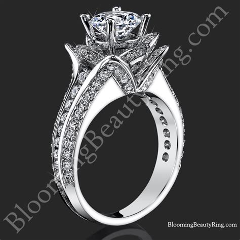ctw original small blooming beauty flower ring