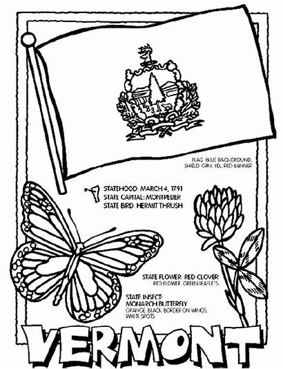 Vermont Coloring Flag Crayola State Pages Printable