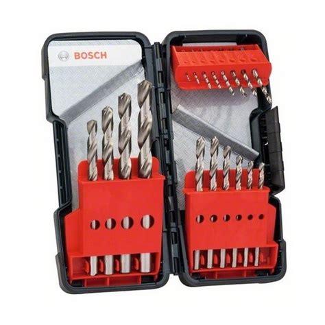 bosch   piece hss drill bit set anglia tool