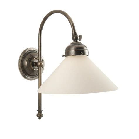victorian or edwardian style wall light with opal white