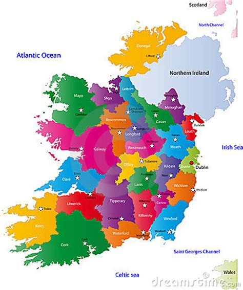 map  ireland royalty  stock photography image