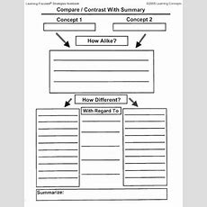 Compare And Contrast Worksheet  Lovetoteachorg  Free Printable Worksheets