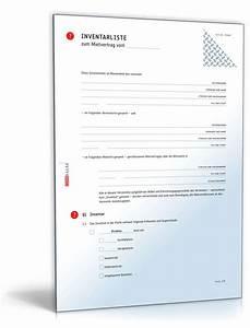 Wohnung Kündigen Vorlage : inventarliste mietvertrag checkliste zum download ~ Eleganceandgraceweddings.com Haus und Dekorationen