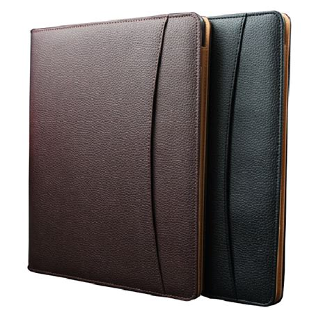 Office Supplies Paper Holder by Brown Pu Leather Document A4 Notepad Professional