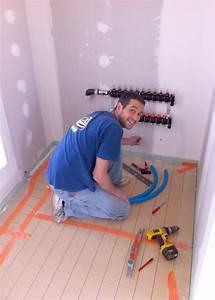 Isolant Sous Chape : pose de l 39 isolant au sol et du plancher chauffant ~ Melissatoandfro.com Idées de Décoration