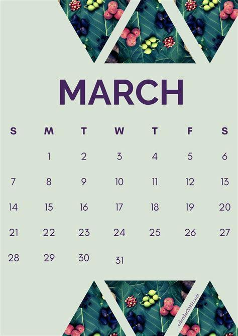 Floral March 2021 Calendar Printable Free Download ...