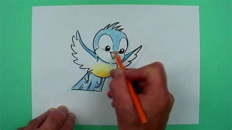 wie zeichnet man ein fliegendes voegelchen zeichnen fuer