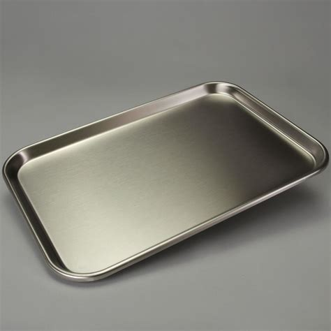 Stainless Steel Trays, Shallow Form Carolinacom