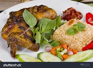 Nasi Goreng Ayam Bakar Spicy Fried Stock Photo 241597021 ...