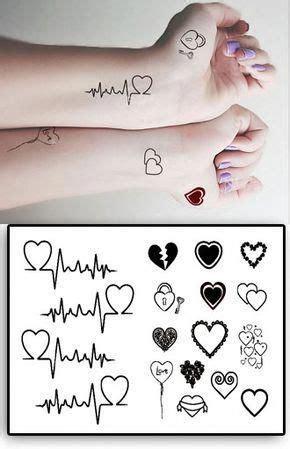 tatouages temporaires coeurs  clefs couplestattoosnames