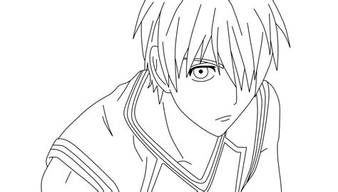 kuroko  basket coloring pages coloring pages