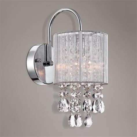 possini euro silver line 12 quot h chrome and crystal sconce