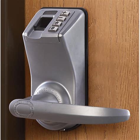 door security devices barska 174 fingerprint door lock 149630 home security
