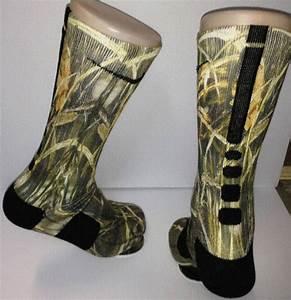 Full Custom Duck Land Camo Nike Elite Socks