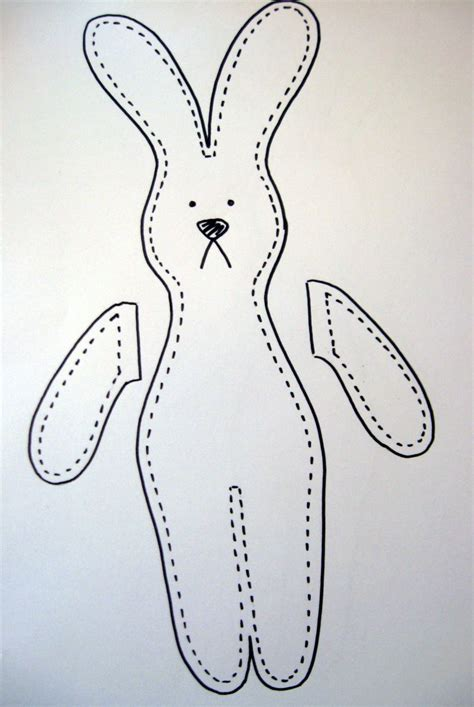 Bunny Template For Sewing by Free Bunny Rabbit Patterns Crafty Rabbit Tutorialangela