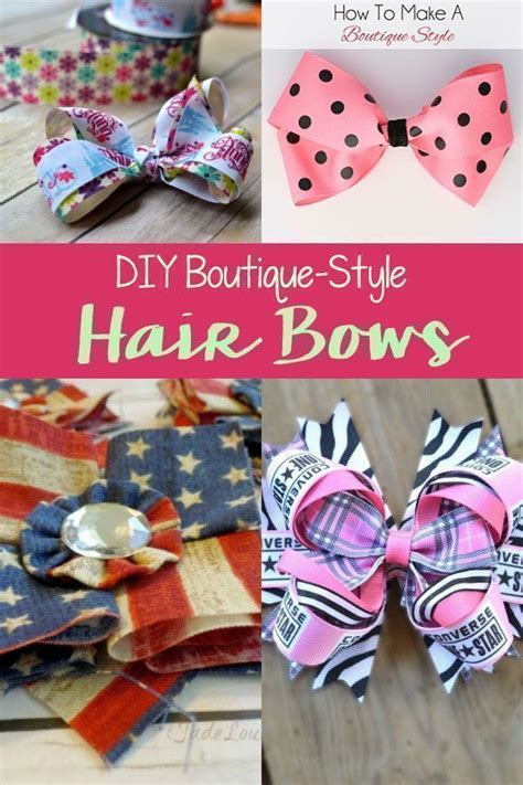 boutique style hair bow tutorial best 25 hair bows ideas on easy to make 6832