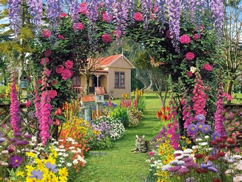English Garden Wallpaper Downloade  Pic Gallery
