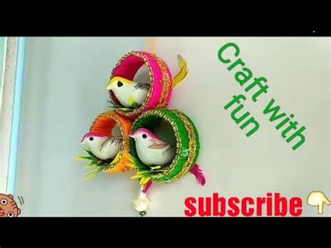 craft  waste material  homeold bangle craft ideas