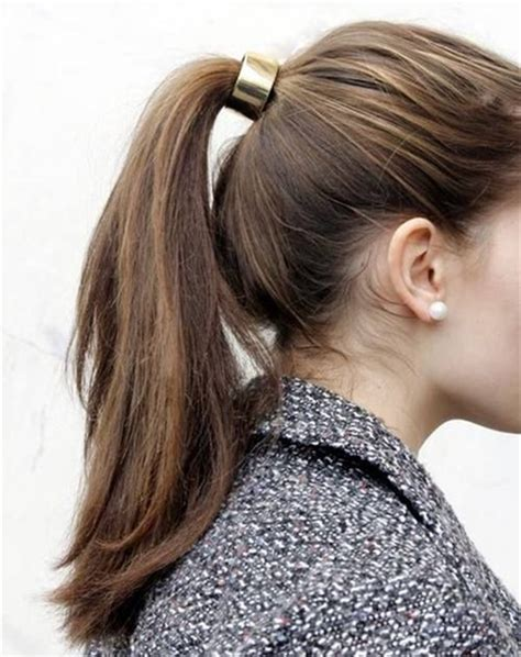 Easy Ponytail Hairstyles For by 10 Lovely Ponytail Hair Ideas For Hair Easy Doing