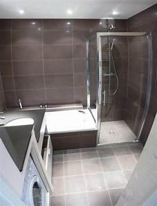douche italienne et baignoire dans petite salle de bain With petite salle de bain avec douche et baignoire