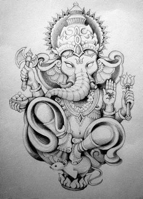 50 Beautiful Ganesha Tattoos designs and ideas With Meaning | Tattoos | Tatouage ganesh, dessin