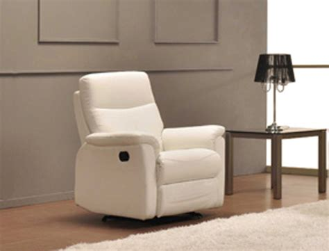fauteuil relax manuel lucas blanc neige 8815
