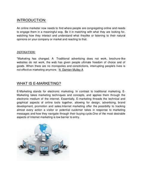 E Marketing by Introduction E Marketing