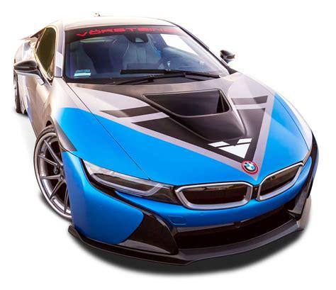 bmw car png vorsteiner bmw i8 vr e blue car png image pngpix