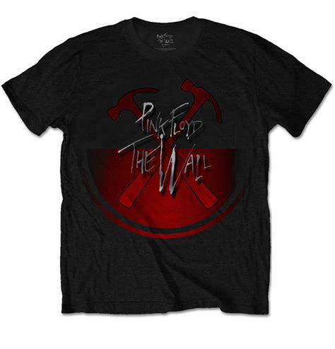 t shirt pink floyd the wall oversized hammers dedoles