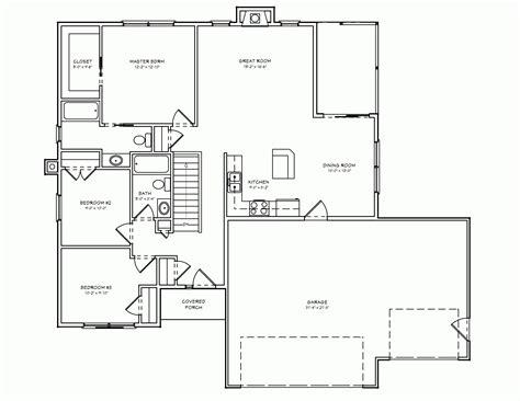 3 bedroom floor plans with garage 3 bedroom house plan with garage 2 bedroom house