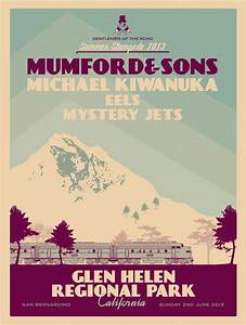Mumford & Sons - gig poster   music.   Pinterest