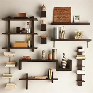 Etagere Salon Design : tag res de rangement pour livres dans le salon design interieur ~ Teatrodelosmanantiales.com Idées de Décoration