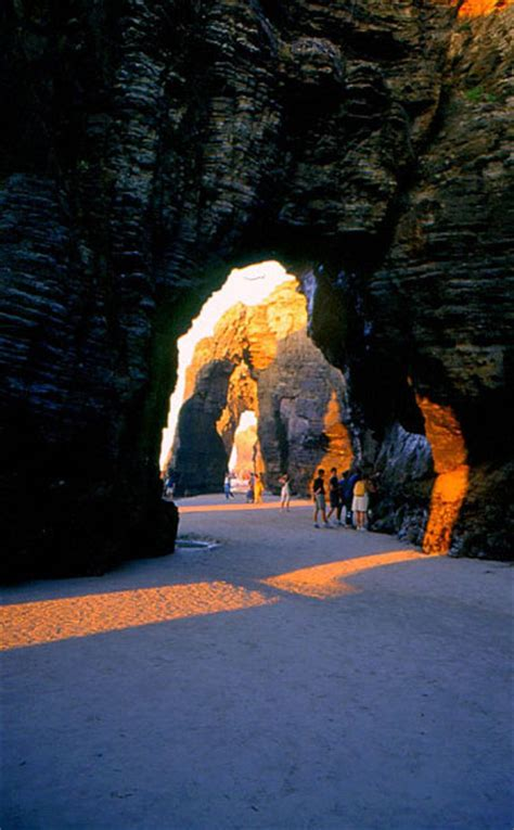ribadeo  catedrais beach galicia spain beach